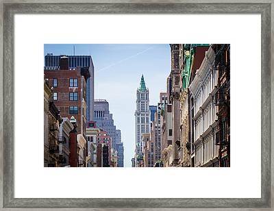 New York City Framed Print by Alexander Mendoza