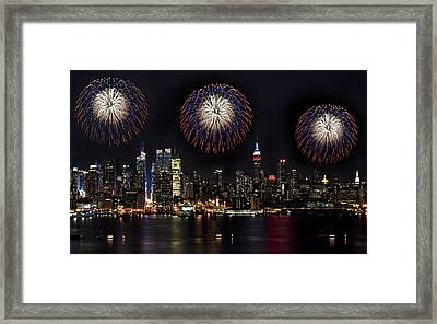 New York City Celebrates The 4th Framed Print