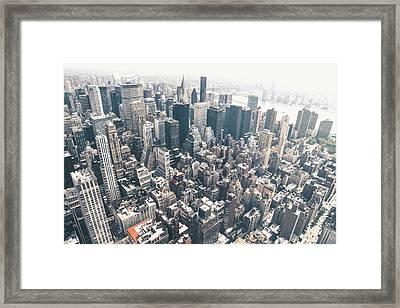 New York City From Above Framed Print