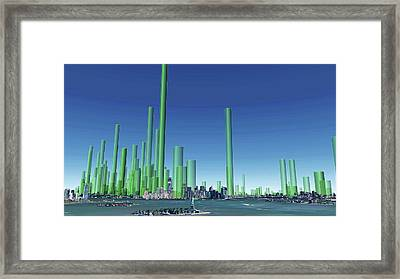 New York City Particulate Air Pollution Framed Print by Adam Nieman