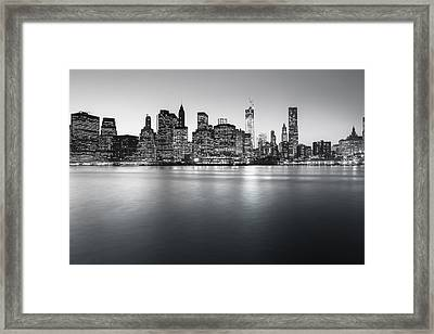 New York City Skyline Framed Print by Vivienne Gucwa