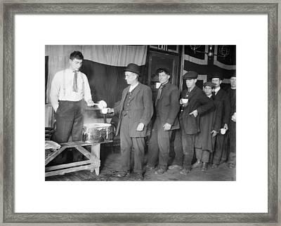New York Hobos, 1915 Framed Print