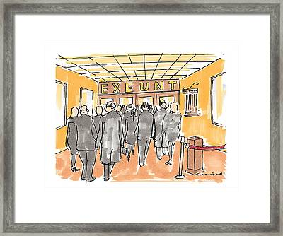 New Yorker December 7th, 1998 Framed Print by Michael Crawford