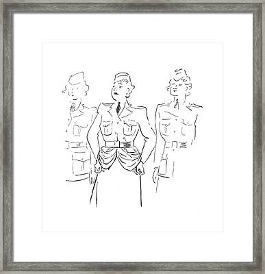 New Yorker July 4th, 1942 Framed Print by Garrett Price