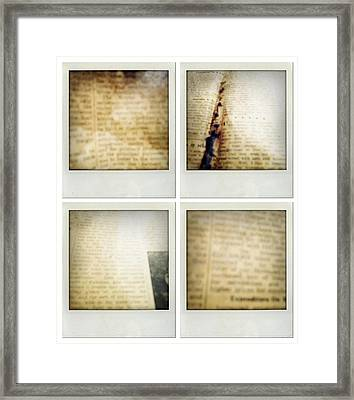 Newspapers Framed Print by Les Cunliffe