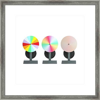 Newton's Disc Experiment Framed Print by Science Photo Library