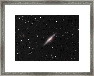 Ngc 2683 Spiral Galaxy Framed Print by Celestial Images