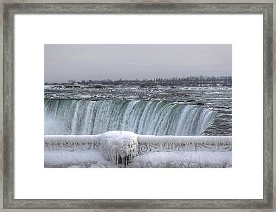 Niagara Falls In The Winter Framed Print by Nick Mares