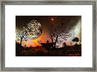 Night Of The Scarecrow  Framed Print