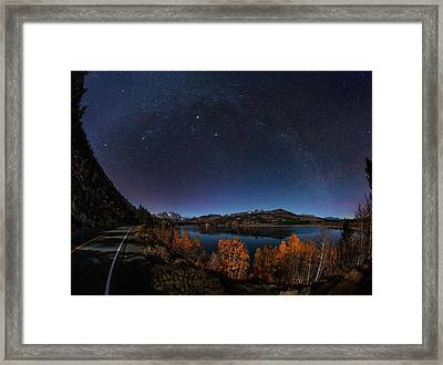 Night Sky Over June Lake Framed Print by Babak Tafreshi