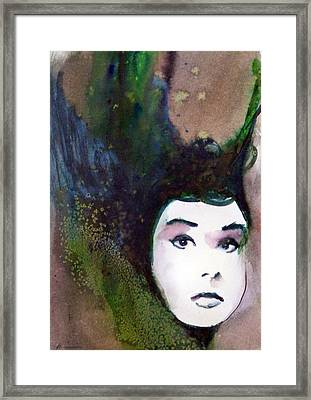 Framed Print featuring the painting Nina by Ed  Heaton