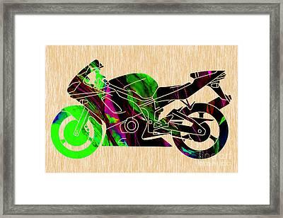Ninja Motorcycle  Framed Print