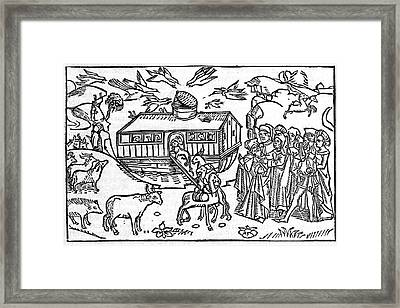 Noahs Ark, 16th-century Bible Framed Print by King's College London