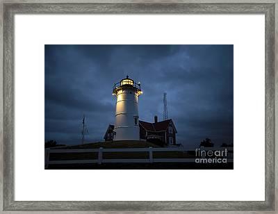 Nobska Lighthouse Framed Print by John Greim