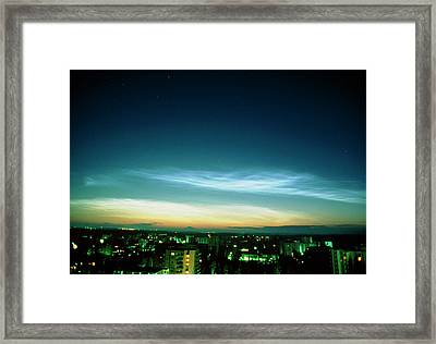 Noctilucent Clouds Framed Print by Pekka Parviainen/science Photo Library