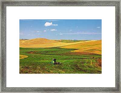 North America Washington Palouse Framed Print by Terry Eggers