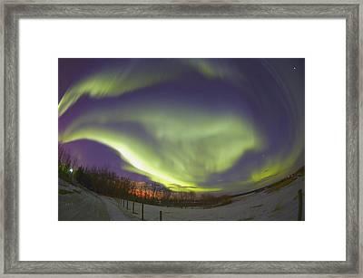 Northern Lights, Edmonton, Alberta Framed Print