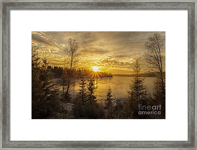 Framed Print featuring the photograph Norway by Rose-Maries Pictures