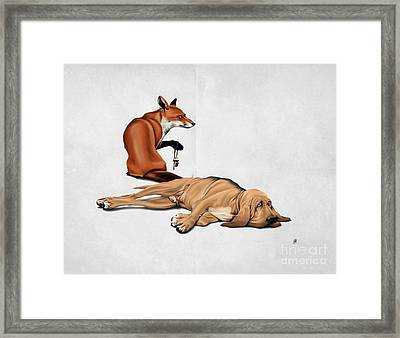Framed Print featuring the drawing Not So Wordless by Rob Snow