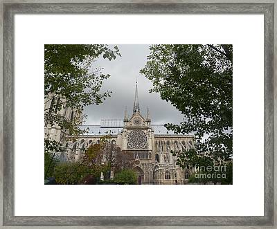 Framed Print featuring the photograph Notre Dame Cathedral by Deborah Smolinske