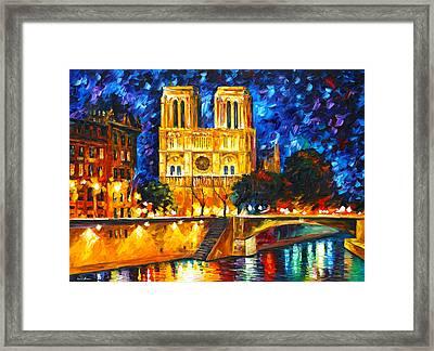 Notre Dame De Paris Framed Print by Leonid Afremov
