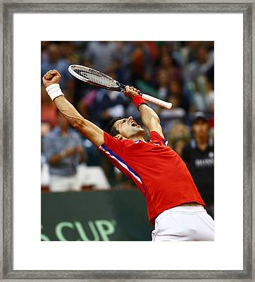 Novak Djokovic Framed Print by Srdjan Petrovic