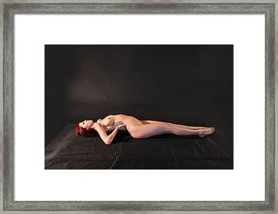 Nude Yoga- Fish Pose Framed Print by Stephen Carver