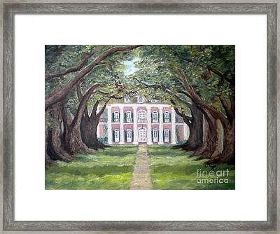 Oak Alley Plantation  Framed Print by Mona  Stilson