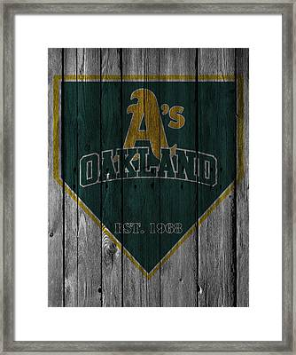 Oakland Athletics Framed Print by Joe Hamilton