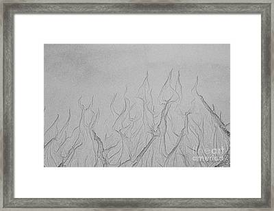 Ocean Sand Art Hearts Framed Print by Iris Richardson