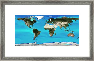 Ocean Surface Ph Framed Print