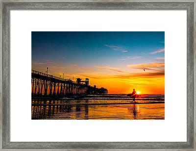 Oceanside Pier At Sunset Framed Print