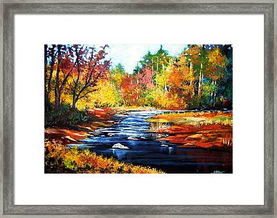 Framed Print featuring the painting October Bliss by Al Brown