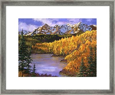 October Colors Framed Print by David Lloyd Glover