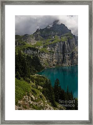 Oeschinensee - Swiss Alps - Switzerland Framed Print