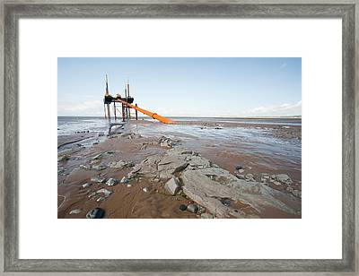 Offshore Wind Farm Construction Framed Print