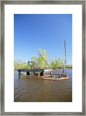 Oil And Gas Industry Framed Print