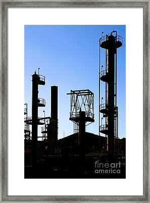Oil Refinery Framed Print by Henrik Lehnerer