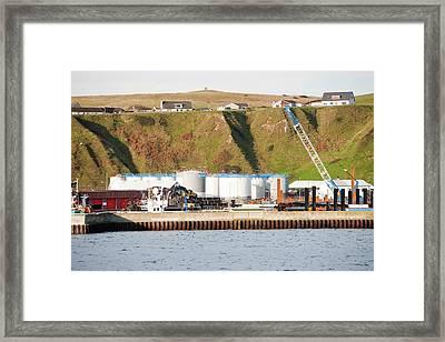 Oil Storage Depot Framed Print