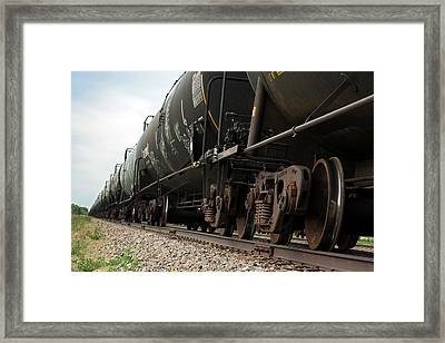 Oil Tanker Train Framed Print by Jim West