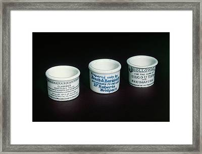 Ointment Pots Framed Print