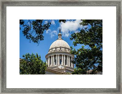 Oklahoma State Capital Dome Framed Print