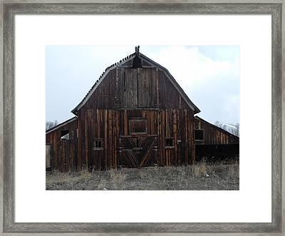 Old Barn Framed Print by Yvette Pichette