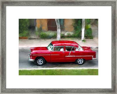 Framed Print featuring the photograph Red Bel Air by Juan Carlos Ferro Duque