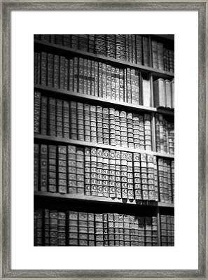 Framed Print featuring the photograph Old Books by Chevy Fleet