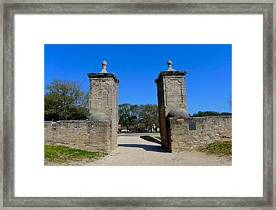 Old City Gates Of St. Augustine Framed Print