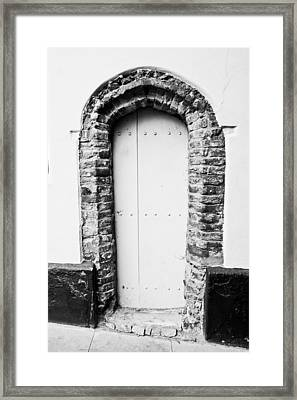 Old Doorway Framed Print by Tom Gowanlock