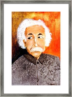 Old Einstein Framed Print