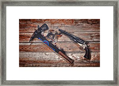 Old Enemies ... Framed Print by Chuck Caramella