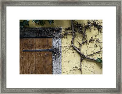 Old House Facade. Framed Print by Fernando Barozza